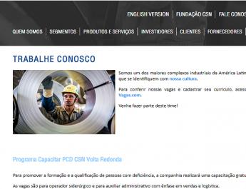 CSN oferece 100 vagas para pessoas com deficiência